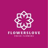 Kwiat miłości ilości trendu gatunku ikony płaski wektor Obraz Royalty Free