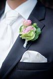 Kwiat na Tux fornal Zdjęcia Stock