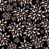Kwiat Opuszcza Bezszwowego Deseniowego tło wektor Obrazy Stock