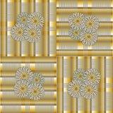 Kwiat płytki wzór Zdjęcia Royalty Free