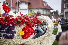 Kwiat parada w holandiach przy wiosną Fotografia Stock