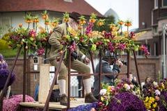 Kwiat parada w holandiach przy wiosną Zdjęcie Stock