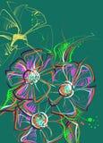 kwiat patroszona ręka również zwrócić corel ilustracji wektora Obraz Stock