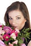 kwiat piękna kobieta Obrazy Stock