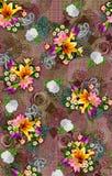 Kwiat po ca?ym koloru wzoru wizerunku cyfrowe kolorowe grafika ?liczne ilustracja wektor