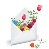 kwiat poczta Obrazy Stock