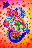 Kwiat projektował pawia ilustracja wektor
