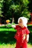 kwiat ręka fotografia stock
