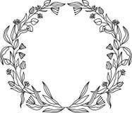 Kwiat ramy set Herbarium Projektuje element dla zaproszeń ślub, urodziny Dla poczt?wkowego projekta royalty ilustracja