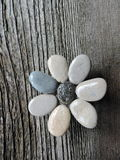 Kwiat robić od naturalnych kamieni Zdjęcie Stock