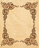 kwiat rzeźbiąca rama Obraz Royalty Free