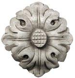 Kwiat rzeźbiący z marmuru odizolowywającego na bielu Obraz Royalty Free