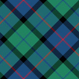 Kwiat Scotland tartanu tkaniny tekstury przekątny bezszwowy wzór Obrazy Stock