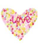 kwiat serce Obraz Royalty Free