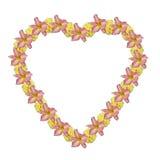kwiat serce ilustracji