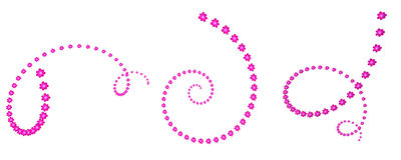 Kwiat spirala Fotografia Royalty Free