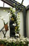 Kwiat szklarnia, florystyczny wystrojów elementów zakończenie Keukenhof jest światu kwiatu wielkim ogródem Zdjęcie Stock