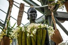 Kwiat szklarnia, florystyczny wystrojów elementów zakończenie Keukenhof jest światu kwiatu wielkim ogródem Obrazy Stock