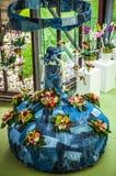 Kwiat szklarnia, florystyczny wystrojów elementów zakończenie Keukenhof jest światu kwiatu wielkim ogródem Obraz Stock