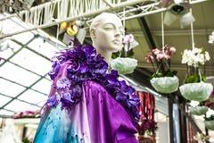 Kwiat szklarnia, florystyczny wystrojów elementów zakończenie Keukenhof jest światu kwiatu wielkim ogródem Zdjęcie Royalty Free