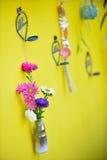 Kwiat w butelki dekoraci Fotografia Stock