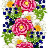 kwiat wiśni tła kwitnie niebo białe bezszwowy elegancja abstrakcjonistyczny wzór ilustracja wektor