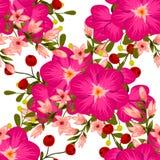 kwiat wiśni tła kwitnie niebo białe bezszwowy elegancja abstrakcjonistyczny wzór royalty ilustracja