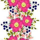 kwiat wiśni tła kwitnie niebo białe bezszwowy elegancja abstrakcjonistyczny wzór ilustracji