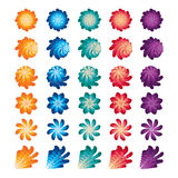 Kwiat wiruje wiatraczka koloru set ilustracja wektor