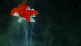 Kwiat z atramentu abstrakta tłem Zdjęcie Royalty Free
