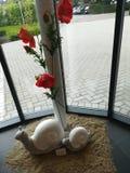 Kwiat z statuami obrazy royalty free