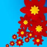 Kwiatu śledzony tło royalty ilustracja