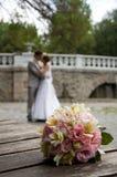 Kwiatu ślubny bukiet Zdjęcia Stock