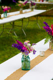 Kwiatu Ślubny wystrój Fotografia Stock