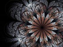 kwiatu abstrakcjonistyczny fractal royalty ilustracja