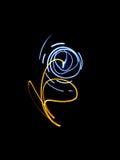 kwiatu abstrakcjonistyczny freezelight Zdjęcie Royalty Free