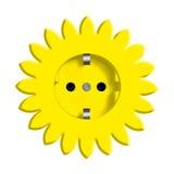 kwiatu abstrakcjonistyczny kolor żółty Obrazy Stock