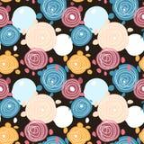 Kwiatu abstrakcjonistyczny kolorowy bezszwowy Zdjęcie Royalty Free