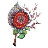 kwiatu abstrakcjonistyczny obraz ilustracja wektor