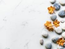 Kwiatu aromata równowagi rockowy zdrowy spokój obrazy royalty free