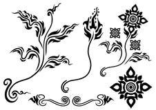 kwiatu azjatykci styl ilustracja wektor