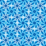 Kwiatu błękitny summetry deseniowy bezszwowy wzór Zdjęcia Royalty Free