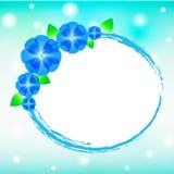 Kwiatu błękitny tło Obrazy Royalty Free