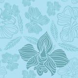 kwiatu błękitny wzór Zdjęcia Stock