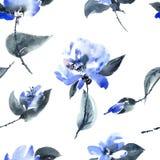 kwiatu błękitny wzór ilustracji