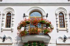 kwiatu balkonowy europejski styl Obrazy Royalty Free