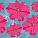 Kwiatu bezszwowy czerwony wzór Obraz Royalty Free