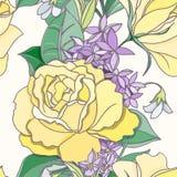 Kwiatu bezszwowy wzór Zdjęcia Royalty Free