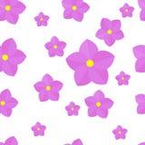 Kwiatu bezszwowy wzór abstrakcjonistyczny tło kwitnie biel ilustracja wektor