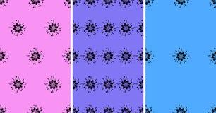 Kwiatu bezszwowy wzór ustawiający z abstrakcjonistycznym elementem również zwrócić corel ilustracji wektora Zdjęcie Stock
